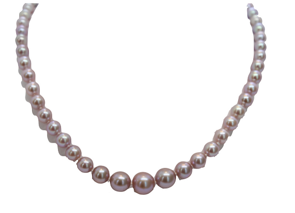 Pink Fresh Water Pearl Strand Necklace