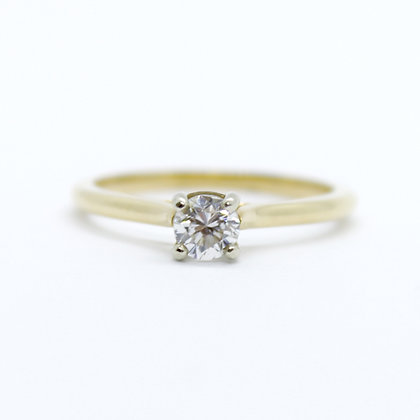 Yellow Gold Round Solitaire Engagement Ring