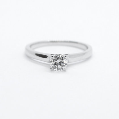 White Gold Round Solitaire Diamond Engagement Ring (0.46 carat)