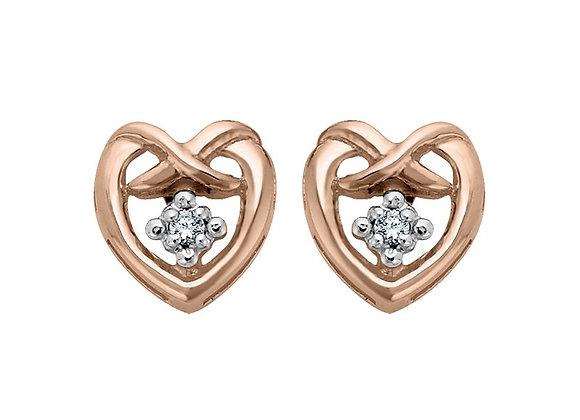 Canadian Diamond Heart Earrings