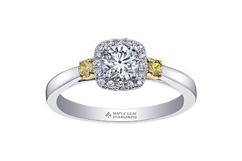 Round With Cushion Halo Diamond Ring