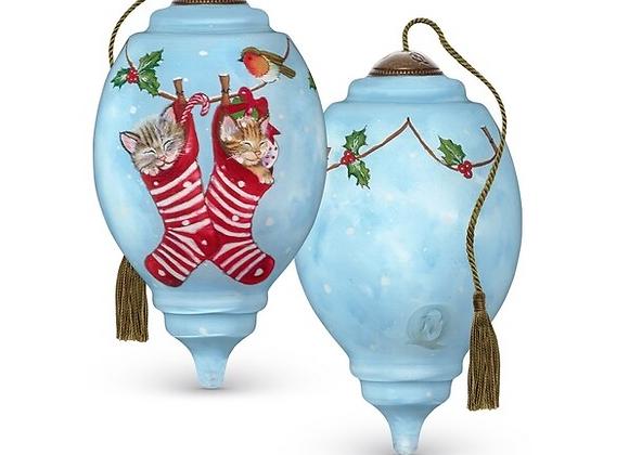 """Kittens In Stockings"" Ornament"