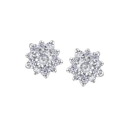 Starburst Canadian Diamond Earrings