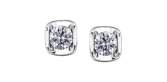 White Gold Tension Set Canadian Diamond Studs