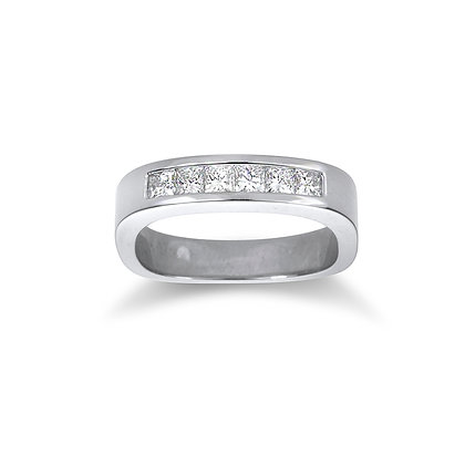 Channel Set Rounded Square Diamond Band