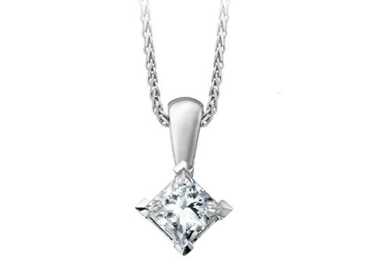 Princess Cut Canadian Diamond Pendant
