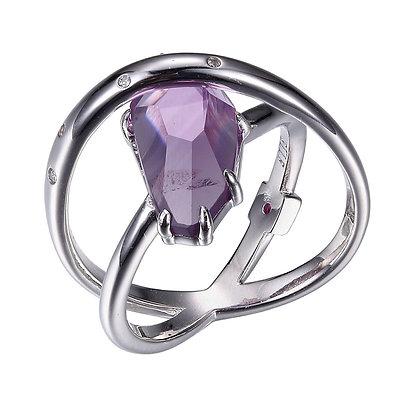 Amethyst Silver Wrap Ring