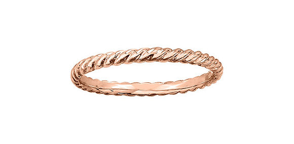 Rose Gold Twisted Rope Chi Chi Ring