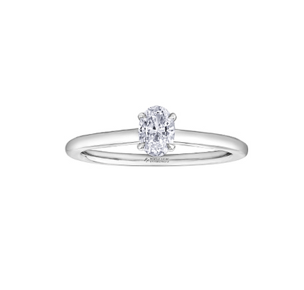 Oval Cut Solitaire Canadian Diamond Engagement Ring (0.32 carat)