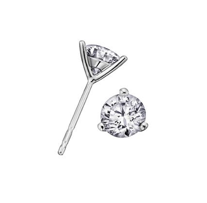Round Cut Solitaire Diamond Studs (0.50 carat)