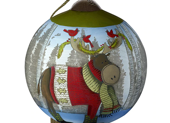 """Forest Friend"" Moose Ornament"