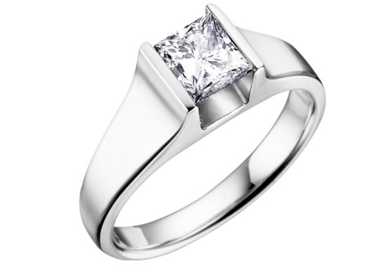Canadian Diamond Princess Cut Solitaire Engagement Ring