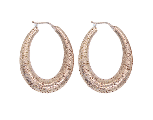 Rose Gold Hollow Oval Hoops