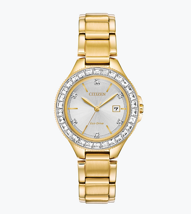 Citizen - Yellow Gold Swarovski Crystal Watch