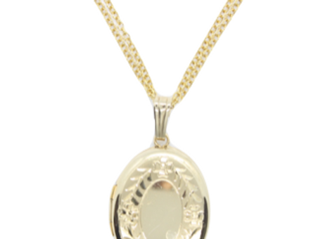 Yellow Gold Double Chain Locket
