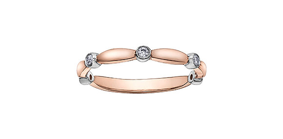 Rose Gold Chi Chi Band with Diamonds