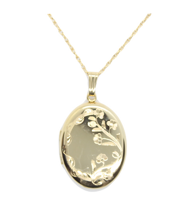 Yellow Gold Flower Detailing Locket