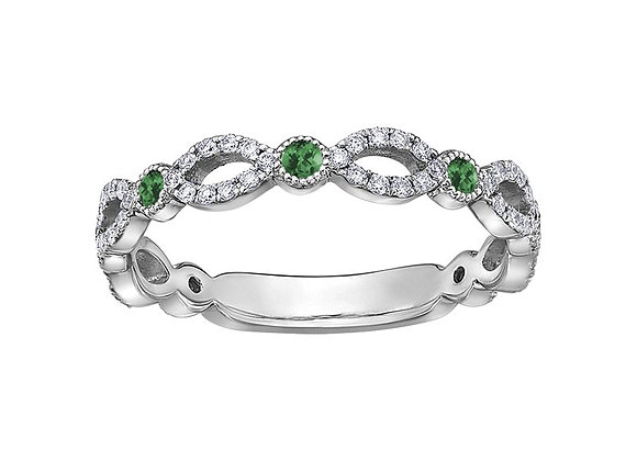 Emerald & Marquis Diamond Ring