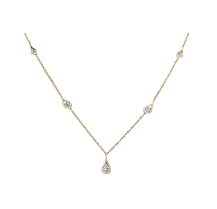 """Canadian Diamond Stationed """"Eternal Flames"""" Necklace"""