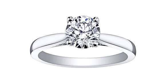 Canadian Diamond Solitaire Engagement Ring with Suprise Diamonds
