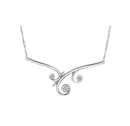 Filigree Inspired Canadian Diamond Necklace