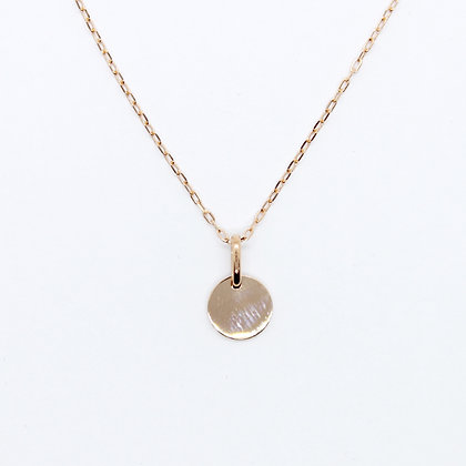 Rose Gold Round Medallion Pendant