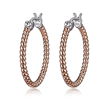 Rose Rope Twist Hoops