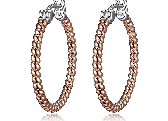 Rose Rope Twist Hoops