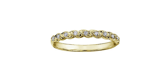 Yellow Gold Twisted Diamond Chi Chi Band
