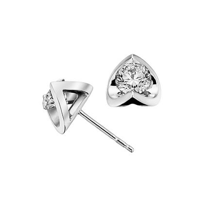 Round Canadian Diamond Tension Set Studs (0.30 carat)