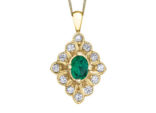 Oval Emerald Fancy Pendant