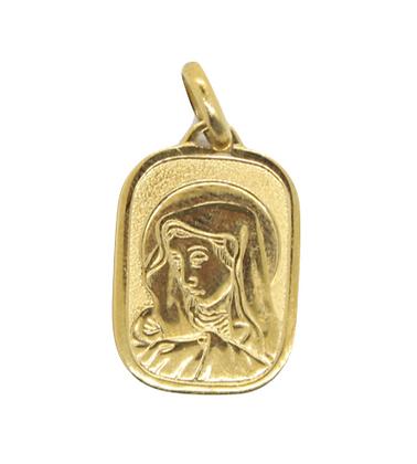 Yellow Gold Madonna Pendant