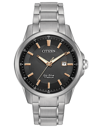 Citizen - Black Dial and Silver Metal Band