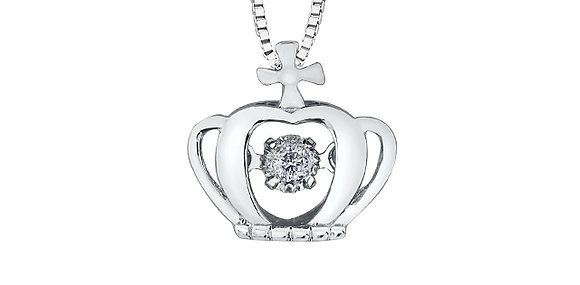 White Gold Monarch Crown Pendant with Pulse Canadian Diamond