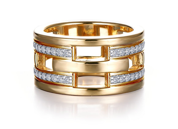 Gold Plated Wide Eternity Band