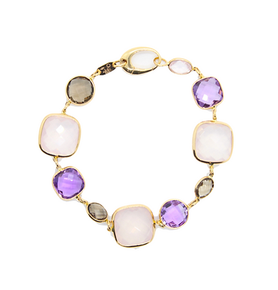 Amethyst & Quartz Bracelet