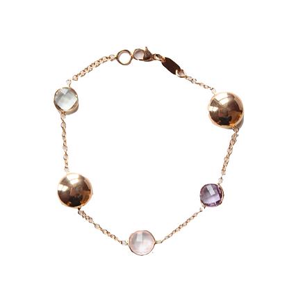 Rose Gold Gemstone Bracelet