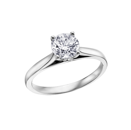 Round Cut Solitaire Canadian Diamond Engagement Ring (0.20 cart)