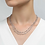 Thumbnail: Silver Long Stationed Round Simulated Diamond Necklace