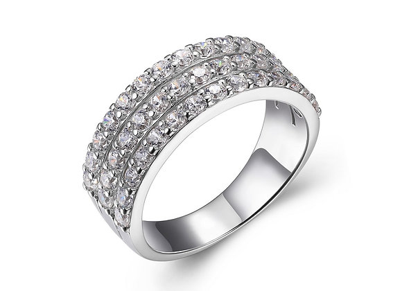 Triple Layer Cubic Zirconia Band