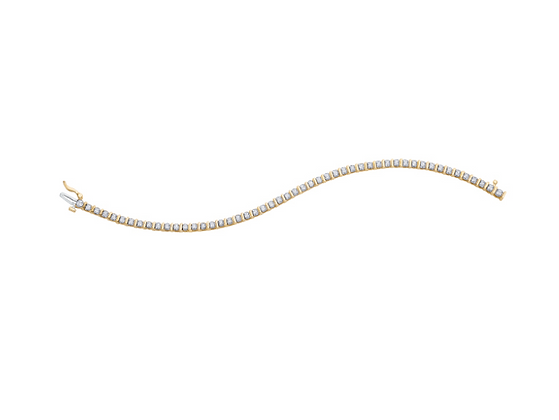 Yellow Gold Round Diamond Tennis Bracelet (1.00 carat)