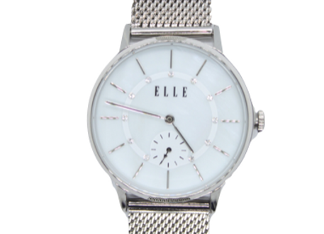 ELLE Stainless Steel Mesh Band Watch