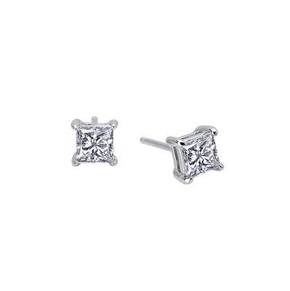 Princess Cut Simulated Diamond Studs (1.00CT)