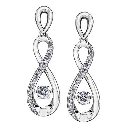 Pulse Twist Diamond Earrings