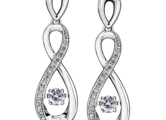 Pulse Twist Diamond Earrings