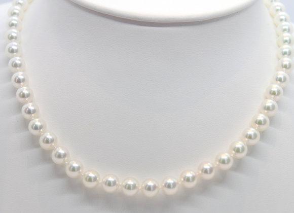 White Akoya Pearl Strand Necklace