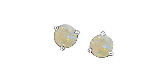 Round Martini Setting Opal Studs