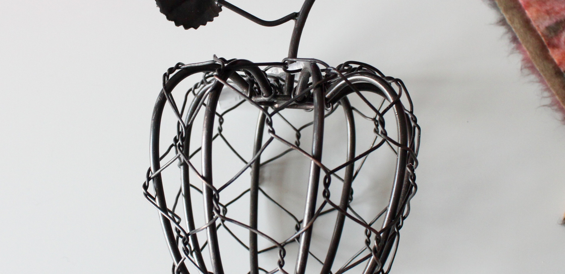 Wire Apple Decor