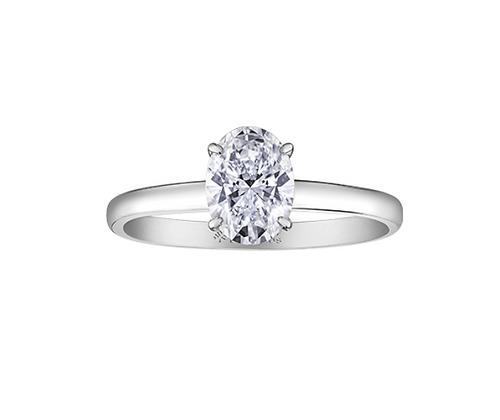 Oval Cut Canadian Diamond Solitaire Engagement Ring (1.00 carat)