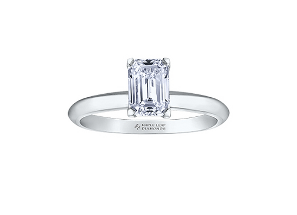 Emerald Cut Solitaire Canadian Diamond Engagement Ring